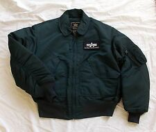 Alpha Industries Flight Jacket CWU Fliegerjacke Gr. M Bombejacke Jacke Blau  =A=