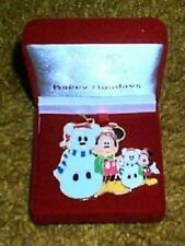 DISNEY OFFICIAL MICKEY MOUSE XMAS HOLIDAY TRADING PIN TREE ORNAMENT SET LE 1500
