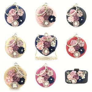 Shoulder Handbags Evening Handbags Chic Round Flower Dinner Party Wedding Clutch