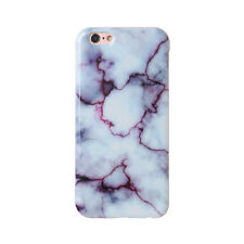 Simple White Granite Marble Glossy Soft Gel Case Cover for iPhone 6 6S 7 8 Plus
