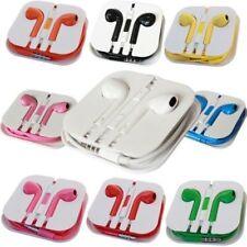 Colour Chrome Headphones Earphones For IPhone HTC Sony Samsung For EarPods Mic