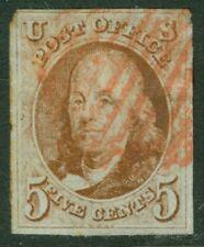 EDW1949SELL : USA 1847 Scott #1 Used. Beautiful appearing 4 margin stamp