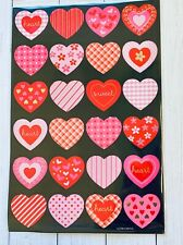 Gold Foil Patterned Hearts Valentine's Day Stickers Planner Papercraft DIY Cards