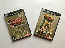 Gamecube Nintendo, lot of 2 games: Zelda, The Wind Waker & Metroid Prime