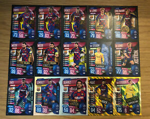 MATCH ATTAX EXTRA 2019/20 FULL SET OF ALL 15 BARCELONA CARDS INC FOILS