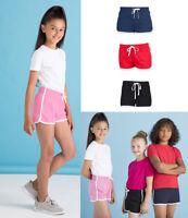 Childrens Retro Shorts Boys Girls PE School Sports Fitness Gym Running Games