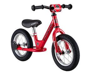 Schwinn 12 inch Kids Adjustable Seat, handlebars Foot to Floor Red Balance Bike
