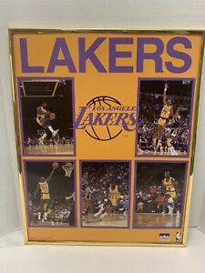 Vintage 1988 16x20 Los Angeles Lakers Starline Poster Magic Johnson! Kareem!