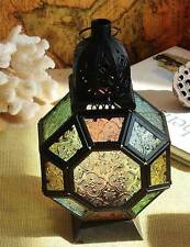 Cool Color Glass Moroccan Delight Garden Decoration Candle Table/Hanging Lantern