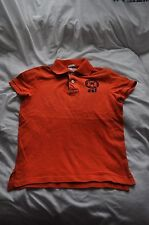 abercrombie kids polo shirt size m orange