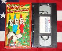 Pups Christmas (VHS, 1936) Jack Frost, + Cartoon Kids Videos Classics Tape Rare