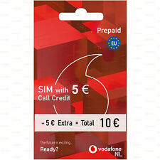 Ready-to-use SIM card Vodafone NL Anonymous 10 CallCredit Prepaid 4G Netherlands