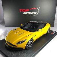 1/18 scale TSM Top Speed Aston Martin DB11 Yellow TS0123