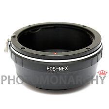 Anello adattatore obiettivo ottiche CANON EOS su SONY NEX-5R NEX-6 NEX-7 A7 A7r