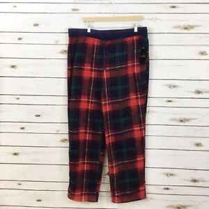 Cuddl Duds XL red blue plaid fleece pajama pants loungewear cozy soft new