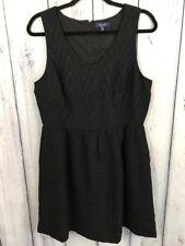 Kaari Blue Womens Size 12 Dress Sleeveless Black V Neck Sheath