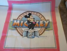 Disney RARE Unique 60 years with you MICKEY MOUSE Cloth Banner Bandana 1987