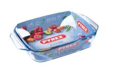 Pyrex Rectangular Borosilicate Glass Roasting Dish  35 x 23cm  [8578]