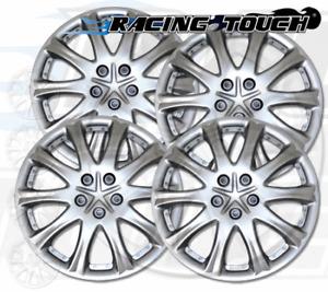 "Wheel Cover Replacement Hubcaps 15"" Inch Metallic Silver Hub Cap 4pcs Set #503"