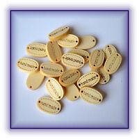 20 Stück Knöpfe Button handmade oval Holz Scrapbooking Neu
