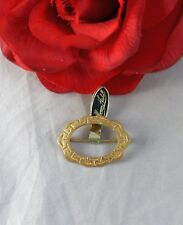Vintage Miriam Haskell Gold tone   Pin Brooch CAT RESCUE