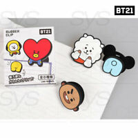 BTS BT21 Official Authentic Goods Mascot Rubber Clip SET + Tracking Number