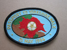 Passport To Yorkshire Walk 1994 Walking Hiking Cloth Patch Badge (L3K)