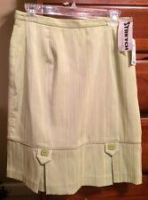New Michele Lime Green Knee Length Skirt Sz 8