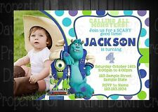 Monsters Inc. Birthday DIGITIAL DELIVERY Invitation