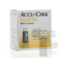 ACCU-CHEK FastClix 100+2 Lancets 1-Box of 102 Exp 12-2020+ Same Day Ship