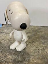 """Poseable Snoopy  Plastic Figure Doll 6-3/4"""" Peanuts Figurine  Toy"""