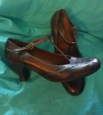 shoes PIKOLINOS brown leather T-Strap MARY JANE heels pumps sz 7 1/2 US 38 EU
