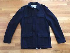 Puma Rudolph Dassler Black Station Navy Wool Jacket Size Medium