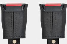 BLACK Stitch accoppiamenti LANCIA DELTA PRISMA 79-94 2x ANTERIORE Cintura di sicurezza in pelle copre