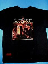 Tim McGraw & Faith Hill t shirt Soul 2 Soul tour 2006 men's size LARGE