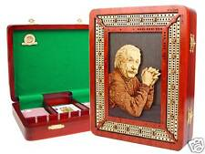 Custom Handmade Einstein Theme Continuous Cribbage Board 3 Tracks