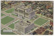 COURT HOUSE SAFETY Police Building Milwaukee Wisconsin LINEN Postcard WI 1950