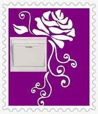 ROSE flower Light Switch Wall Netbook Vinyl Stickers UK