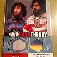 The Big Bang Theory seasons 3-4 dual costume card DM 04 Howard and Rajesh