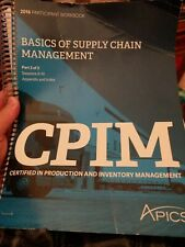 APICS Participant Workbook: CPIM Certified in Production Inventory Management