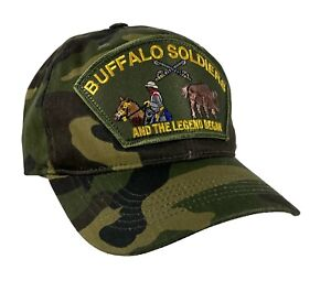 Buffalo Soldiers Dad Cap Unstructured Cotton Military Grade CAMO
