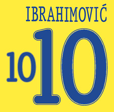 Sweden Ibrahimovic Nameset Shirt Soccer Number Letter Heat Print Football 2010 H