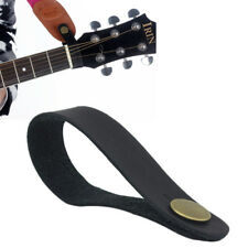 Classic Leather Guitar Strap Holder Button Safe Lock for Acoustic Electric Bass