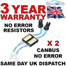 2  LED T10 501 ERROR CANCELLERS LOAD RESISTORS SIDE LIGHTS NO ERROR 3Yr Warranty