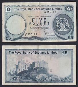 Scozia 5 pounds 1980 BB/VF  B-10