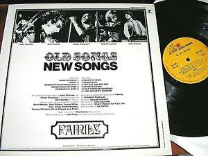FAMILY   -     Old Songs, New Songs,      RARE ORIGINAL 1971 UK LP..... EX