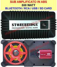 SUB WOOFER BLUIETOOTH AMPLIFICATO 500 WATT ATTIVO AUX USB RADIO 12V220 SUBWOOFER