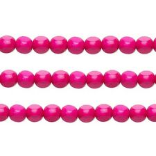 Wood Rounded Triangle Beads Dark Pink 10x10x10mm 16 Inch Strand