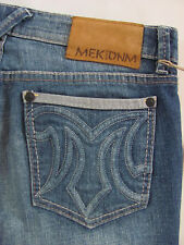 MEK Demim Buckle Hollywood Straight -Med Wash Whiskers/Fading-Size 27 -NWT $134