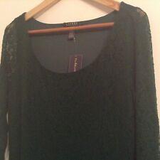 BNWT 100% Auth Ralph Lauren, Ladies Laced Green Dress. L RRP £340.00